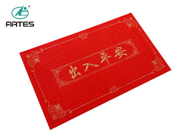 Customized Waterproof Easy Clean PVC Door Mats 100% Acrylic For Home Entry